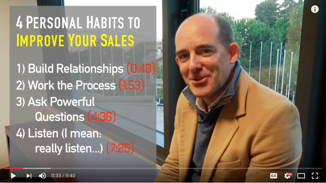 How to Improve your Sales Process (4 Personal Habits to Develop)