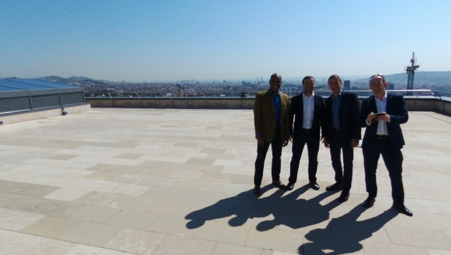 IESE EMBA Leadership Communications Team on the roof